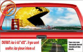W1343 Pac Man Pacman Car Truck Van Decal Sticker Wrap Rear Window Perforated Ebay