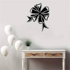 Amazon Com Na Mural Saying Wall Decal Sticker Art Mural Home Decor Quote Bow Ribbon Hollow Out Lounge Decoration Design Customized Colors Home Decor Home Kitchen