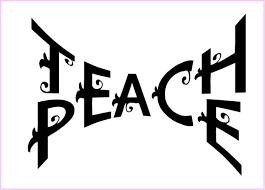Teach Peace Wall Quote Teacher Wall Art School Wall Decal Education Decal Teach Peace Wa Teach Peace Teacher Wall Art Wall Quotes