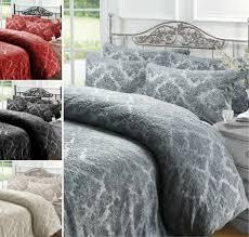 bedding 4pc flock bedding set damask