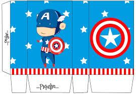 Captain America Baby Free Printable Mini Kit Aniversario