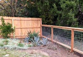 6ft Cedar Privacy Fence To 4ft Cattle Panel Fence Cattle Panel Fence Backyard Fences Livestock Fence