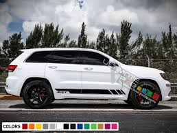 Sport Decal Sticker Vinyl Side Racing Stripe Kit Compatible With Jeep Grand Cherokee Wk2 Srt Base 2011 2017 Ultimateprocy