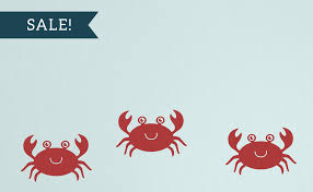 Crab Wall Decal Set Sea Ocean Friends Set Of 3 Tweet Heart Home Design