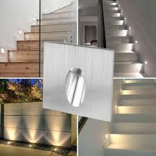 10 Cái/lốc Miễn Phí Vận Chuyển 1 W/3 W Đèn LED Âm Trần Cầu Thang Đèn Vuông  Góc Tường Cầu Thang Bước Cầu Thang hành Lang Cầu Thang Đèn