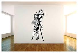 Jack Skellington And Sally Vinyl Wall Decal Sticker 22 X44 Choice Of Color Ebay