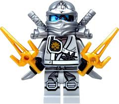 Amazon.com: LEGO Ninjago Minifigure - Zane Titanium Ninja with Gold &  Silver weapons: Toys & Games