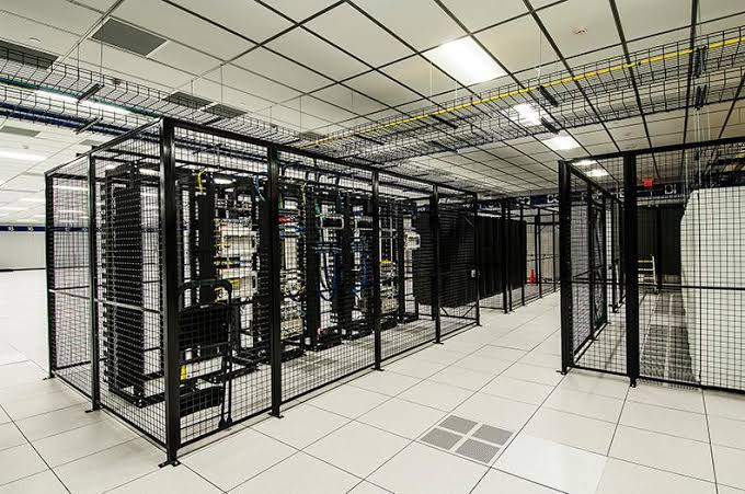A row of Tips in Colocation Data Center for company