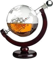 com whiskey globe decanter