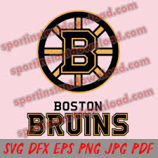Boston Bruins Svg Silhouette Studio Transfer Iron On Cut File Cameo Cricut Iron On Decal Vinyl Decal Layered Vector