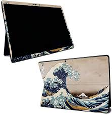 Amazon Com Mightyskins Skin For Microsoft Surface Pro X Great Wave Of Kanagawa Protective Durable And Unique Vinyl Decal Wrap Cover Easy To Apply Remove And Change Styles Made