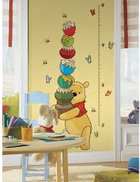 Amazon Com New Winnie The Pooh Growth Chart Wall Decals Baby Nursery Kids Room Stickers Home Kitchen