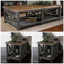 worn reclaimed fir wood coffee table
