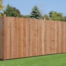 6 Ft X 8 Ft Cedar Dog Ear Fence Panel 320039 The Home Depot Building A Fence Cedar Fence Outdoor Essentials