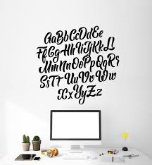 Vinyl Wall Decal Abc Alphabet Letters Study Primary School Stickers Mu Wallstickers4you