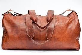 ph064 vintage leather duffle bag