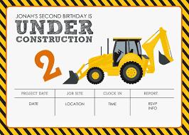 Construction Party Invitation Templates Con Imagenes