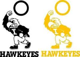 Iowa Hawkeyes Set Of 8 Vinyl Decals Stickers Window Decal Cornhole Ebay