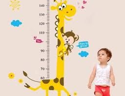 Amazon Com Wall Sticker Decal Child Baby Infant Height Measure Chart 180cm 6 Feet Tree Monkey By Dongfan Home Kitchen