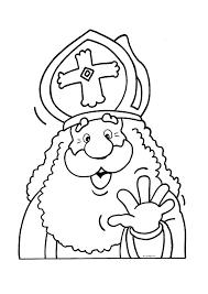 Kleurplaat Sinterklaas Zwaait Sinterklaas