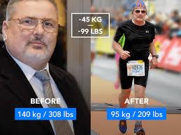 140 kg 308 lb to running a half marathon