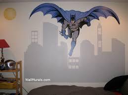 Batman Wall Mural With Citiscape Wall Murals By Colettewall Murals By Colette