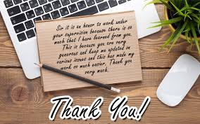 thank you note to boss appreciation letter to boss