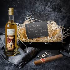single malt whiskey cuban cigar gift