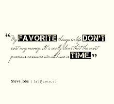 steve jobs the most precious resource we have is time quote