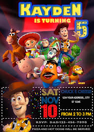 Toy Story 4 Movie Birthday Invitation 3 Invitaciones De Toy