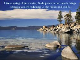 like a spring of pure water god s peace love quotes
