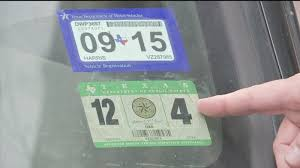 How To Get New Texas Car Registration Inspection Sticker Abc13 Houston