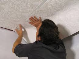 how to hang wallpaper on a ceiling