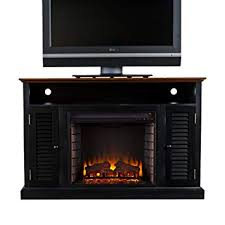 tv stand with electric fireplace finish