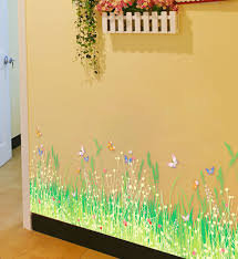 Diy Green Grass Vinly Wall Sticker Flower Kids Rooms Kitchen Bathroom Decoration Wall Decals Poster Home Decor Murals Art Decorative Wall Decal Decoration Muralewall Decals Aliexpress