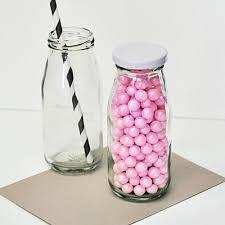 diy blank miniature glass milk bottles