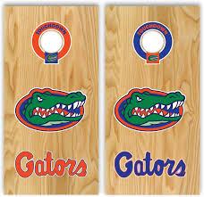 Amazon Com Set Of 17 Stickers With Hole Border For Cornhole Decal Florida Gators Everything Else