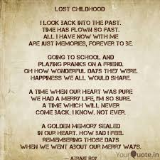 lost childhood i look b quotes writings by atrajit roy
