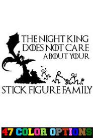 Vinyl Decal Sticker Car Game Of Thrones Night King Does T Care Stick Family Ebay
