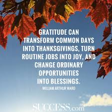 quotes for an attitude of thankfulness success