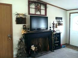 faux fireplace for mantel surround