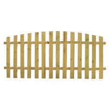 4 Ft H X 8 Ft W Pressure Treated Pine Spaced Arched Top Fence Panel 130702 The Home Depot Fence Panels Picket Fence Panels Outdoor Essentials
