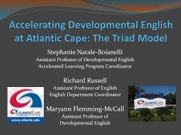The Triad Model - Atlantic Cape Community College