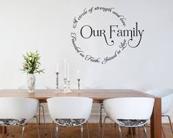 Our Family Circle Wall Decals Trading Phrases