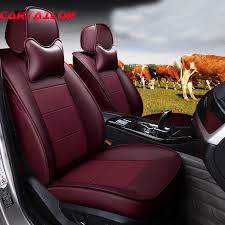 custom cowhide leather car seat cover