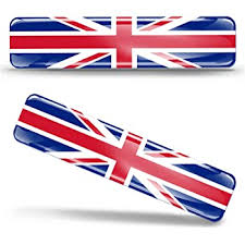 Amazon Com 2 X 3d Domed Silicone Stickers Decals Uk United Kingdom Union Jack National Great Britain Flag Car Motorcycle Helmet F 26 Automotive