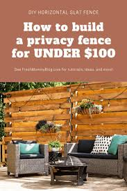 Stunning Diy Horizontal Slat Fence Lifestyle Fresh Mommy Blog In 2020 Horizontal Slat Fence Privacy Fence Designs Diy Privacy Fence