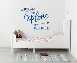 Dream Explore Discover Inspirational Quotes Wall Sticker Decal Sq217 Decalz Co