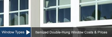 double hung window cost for install