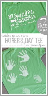 handprint tee for grandpa father s